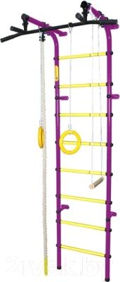 Детский спортивный комплекс Формула здоровья Непоседа-3В Плюс (фиолетовый/желтый)
