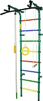 Детский спортивный комплекс Формула здоровья Непоседа-3В Плюс (зеленый/радуга) -