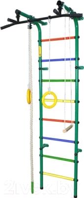 Детский спортивный комплекс Формула здоровья Непоседа-3В Плюс (зеленый/радуга)