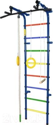 Детский спортивный комплекс Формула здоровья Непоседа-3В Плюс (синий/радуга)