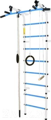 Детский спортивный комплекс Формула здоровья Непоседа-3В Плюс (белый/голубой)