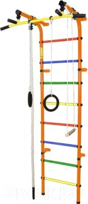 Детский спортивный комплекс Формула здоровья Непоседа-3В Плюс (оранжевый/радуга)