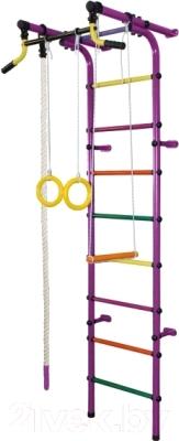 Детский спортивный комплекс Формула здоровья Непоседа-2В Плюс (фиолетовый/радуга)