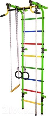 Детский спортивный комплекс Формула здоровья Непоседа-2В Плюс (салатовый/радуга)