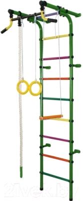 Детский спортивный комплекс Формула здоровья Непоседа-2В Плюс (зеленый/радуга)