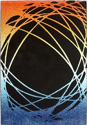 Ковер Lalee California 101 (120x170, черный-оранжевый)