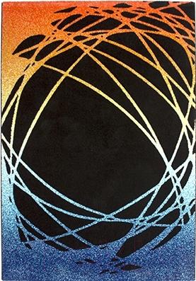 Ковер Lalee California 101 (160x230, черный-оранжевый)