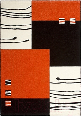 Ковер Lalee California 103 (160x230, черный-оранжевый)