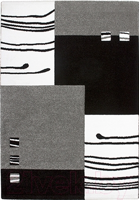 Ковер Lalee California 103 (160x230, черный-серебряный)