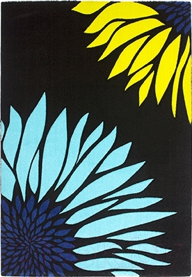Ковер Lalee California 164 (160x230, черный-голубой)