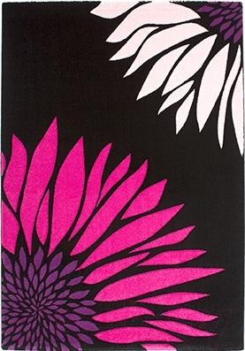 Ковер Lalee California 164 (120x170, черный-фуксия)