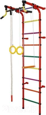 Детский спортивный комплекс Формула здоровья Непоседа-2В Плюс (красный/радуга)