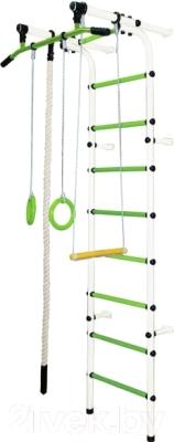 Детский спортивный комплекс Формула здоровья Непоседа-1В Плюс (белый/салатовый)