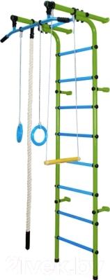 Детский спортивный комплекс Формула здоровья Непоседа-1В Плюс (салатовый/голубой)