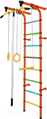 Детский спортивный комплекс Формула здоровья Непоседа-1В Плюс (оранжевый/радуга)