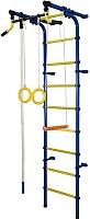 Детский спортивный комплекс Формула здоровья Непоседа-2В Плюс (синий/желтый) -