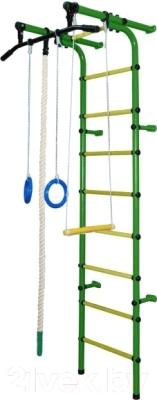 Детский спортивный комплекс Формула здоровья Непоседа-1В Плюс (зеленый/желтый)