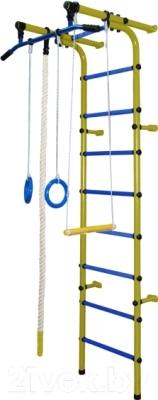 Детский спортивный комплекс Формула здоровья Непоседа-1В Плюс (желтый/синий)