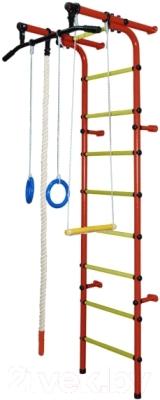 Детский спортивный комплекс Формула здоровья Непоседа-1В Плюс (красный/желтый)