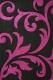 Ковер Lalee Lambada 451 (80x150, черный-лиловый) -
