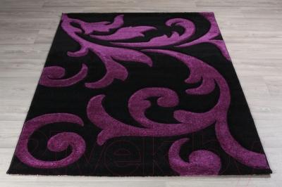 Ковер Lalee Lambada 451 (80x300, черный-лиловый)