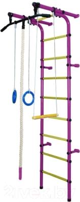 Детский спортивный комплекс Формула здоровья Непоседа-1В Плюс (фиолетовый/желтый)