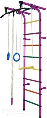 Детский спортивный комплекс Формула здоровья Непоседа-1В Плюс (фиолетовый/радуга)
