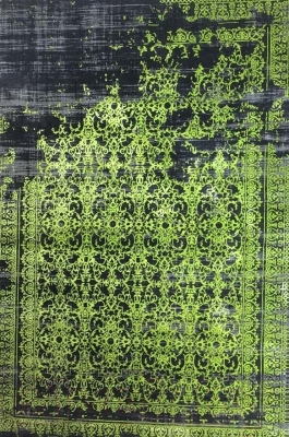 Ковер Flora Leo (200x290, черный/зеленый)