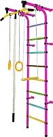 Детский спортивный комплекс Формула здоровья Непоседа-1В Плюс (розовый/радуга) -