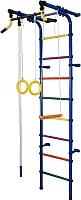 Детский спортивный комплекс Формула здоровья Непоседа-2В Плюс (синий/радуга) -