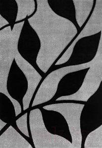 Ковер Haskaplan Lucia 640 (80x200, серебристый/черный)