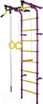 Детский спортивный комплекс Формула здоровья Непоседа-2В Плюс (фиолетовый/желтый)