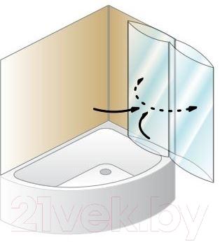 Стеклянная шторка для ванны Kolpa-San Sole TP 104