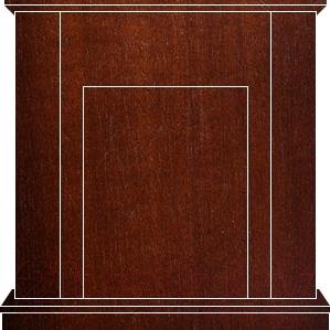 Портал для камина Смолком Cabinet ALB (махагон коричневый антик) - махагон коричневый антик