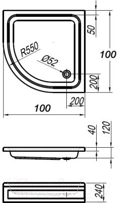 Душевой поддон Kolpa-San Ocean 100/О (+ панель)