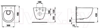 Унитаз подвесной Laufen Pro 8209650000001