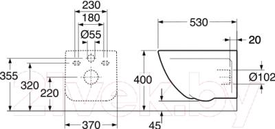Унитаз подвесной Gustavsberg Artic 4330 (GB114330201231)