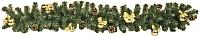 Гирлянда еловая Ёлкино С декором (1.5м, зеленая/золотая) -