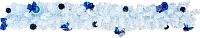 Гирлянда еловая Ёлкино С декором (1.5м, белая/синяя) -