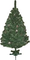 Ель новогодняя искусственная Ёлкино с серебряными шишками (2.2м) -