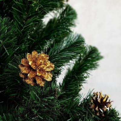 Ель новогодняя искусственная Ёлкино с золотыми шишками (1.8м)