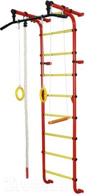Детский спортивный комплекс Формула здоровья Мечта-1В Плюс (красный/желтый)