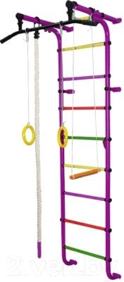 Детский спортивный комплекс Формула здоровья Мечта-1В Плюс (фиолетовый/радуга)