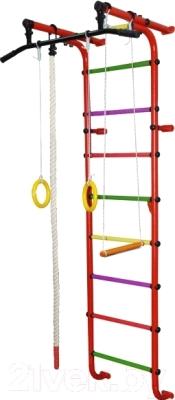 Детский спортивный комплекс Формула здоровья Мечта-1В Плюс (красный/радуга)