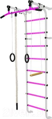Детский спортивный комплекс Формула здоровья Мечта-1В Плюс (белый/розовый)