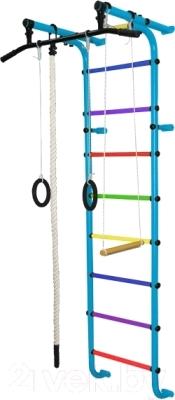 Детский спортивный комплекс Формула здоровья Мечта-1В Плюс (голубой/радуга)
