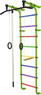 Детский спортивный комплекс Формула здоровья Мечта-1В Плюс (салатовый/радуга)