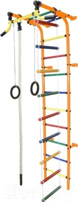 Детский спортивный комплекс Формула здоровья Забияка-2А Плюс (оранжевый/радуга)