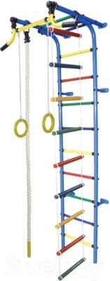 Детский спортивный комплекс Формула здоровья Забияка-2А Плюс (синий/радуга)