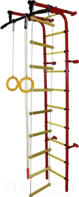Детский спортивный комплекс Формула здоровья Забияка-1А Плюс (красный/желтый)